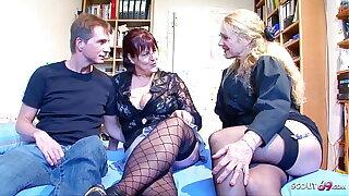 Deutsche Psychologin überredet reifes Paar zum Dreier Porno Casting