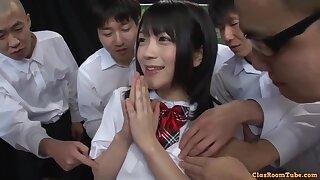 Japanese naughty battle-axe incredible porn clip